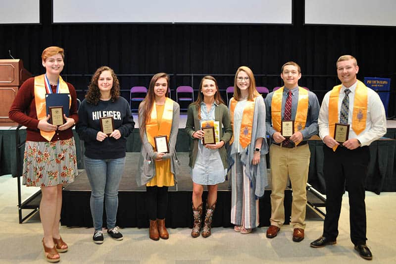 Pulaski County: From left, Autumn Brooke Quesenberry, Hannah O'Dell, Emily Paige Dauel, Alli Brooke Bryson, Erica Anderson, Bailey Christopher Alward and Nathaniel L. Bevil.