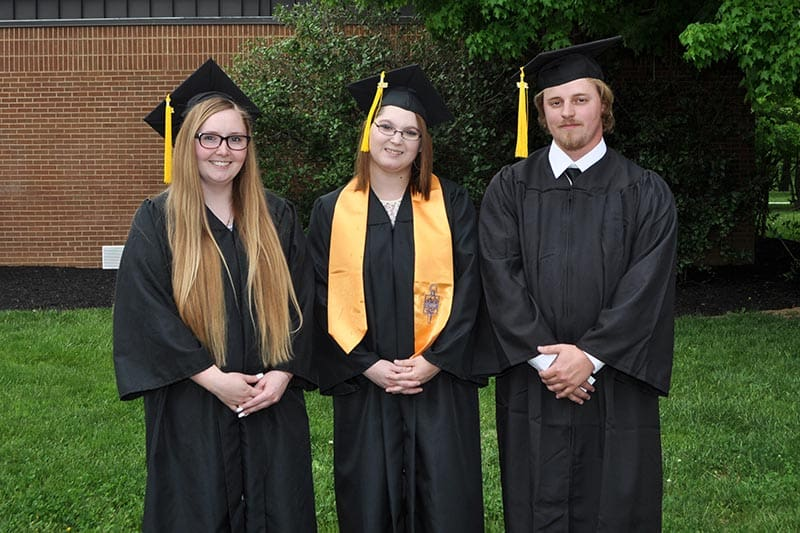 RADFORD:From left: Lovevette Sheppard, Brittany Rummell, Tyler Hoy