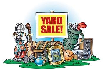 9/14: Yard Sale/Bake Sale