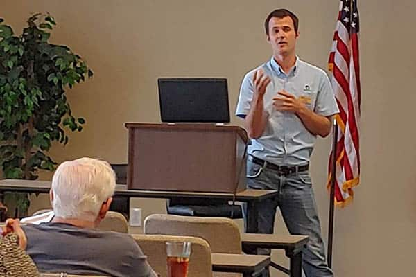 Building analyst Chris Nicholson addressing the NRV Association of Realtors (NRVAR) on the value of their new certification program.