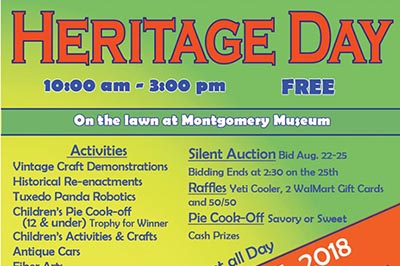 8/25: Heritage Day at The Montgomery Museum