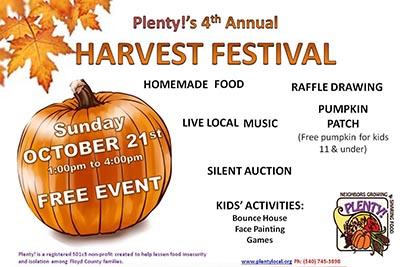10/21: Plenty! Harvest Festival