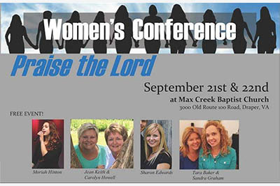 9/21-22: PRAISE the Lord! Women's Conference