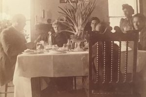 1890s Dining--Capt. Osborne and family dining in Radford in the 1890s