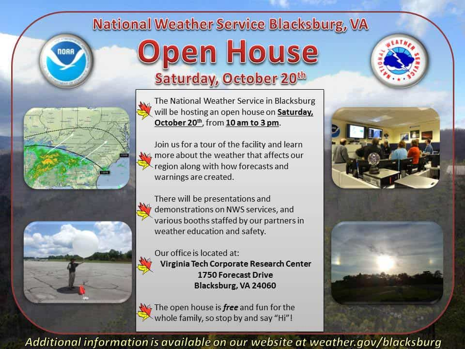 10/20: National Weather Service Open House