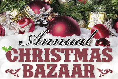 11/9: Christmas Bazaar and Bake Sale