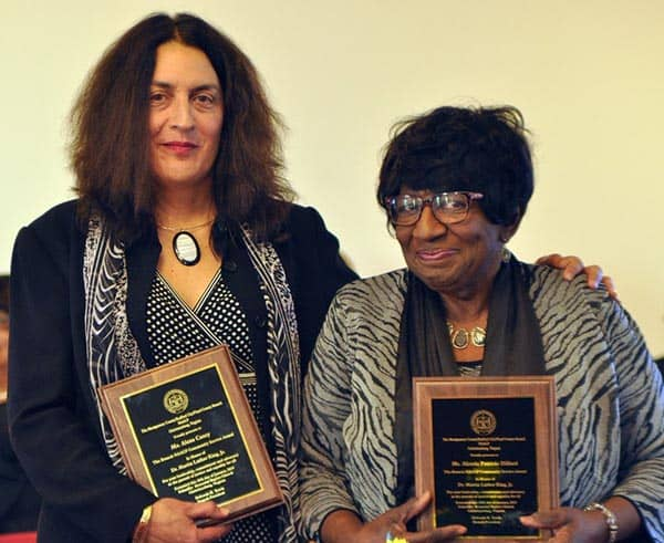 Winners of the Martin Luther King Community Service Awards (l-r. Alexa Casey, Alzeria Dillard) (photo by Larry Middleton)