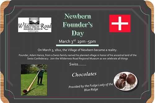 3/3: Founder's Day and Swiss Celebration