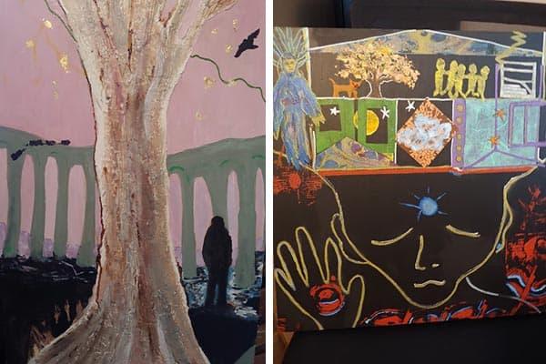 Glencoe Mansion Gallery Show by Yvonne Alderman
