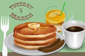 3/5: Shrove Tuesday Pancake Supper