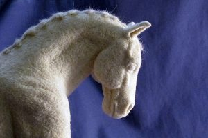 Detail of Dressage Horse, by Laura C. Frazier