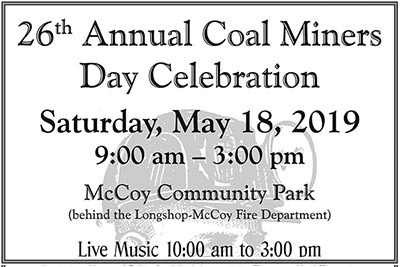 5/18: Coal Miners Day Celebration