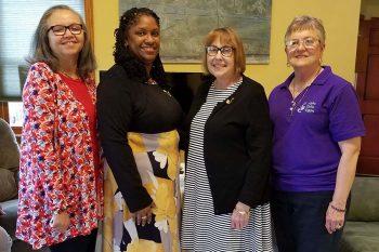 Three teachers initiated into Alpha Delta Kappa