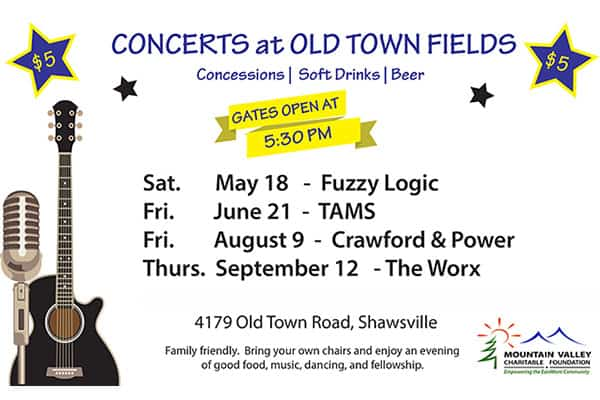 Summer Concerts at Old Town Fields