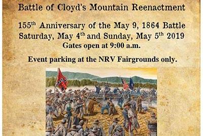 5/4: Battle of Cloyd's Mountain Reenactment