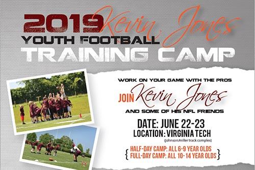 6/22-23: Kevin Jones Football Camp