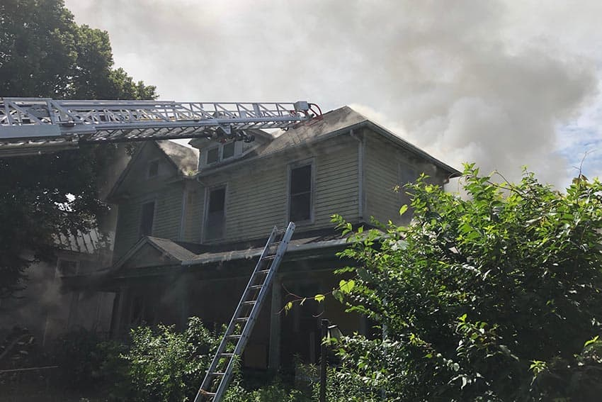 Fire in Radford Closes Part of Grove Avenue