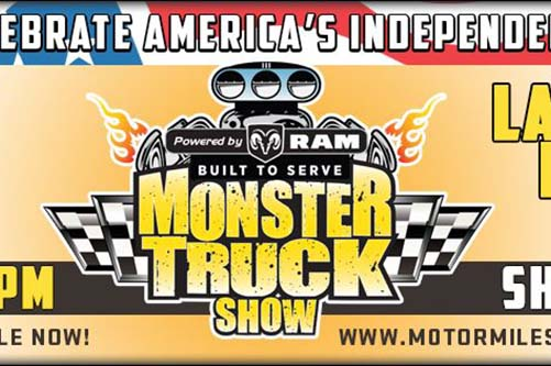 6/29: Monster Truck Show at Motor Mile Speedway