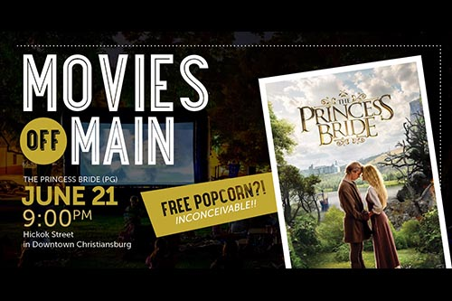 6/21: Movies Off Main Kickoff: The Princess Bride