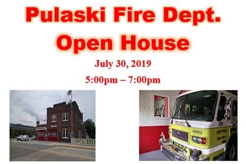 7/30: Pulaski Fire Dept Open House