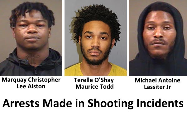 Arrests Made in Shooting Incidents