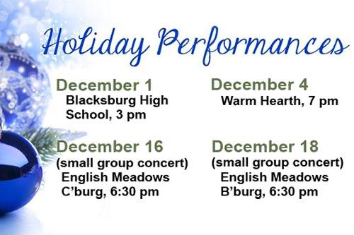 Blacksburg Community Band Holiday Concerts
