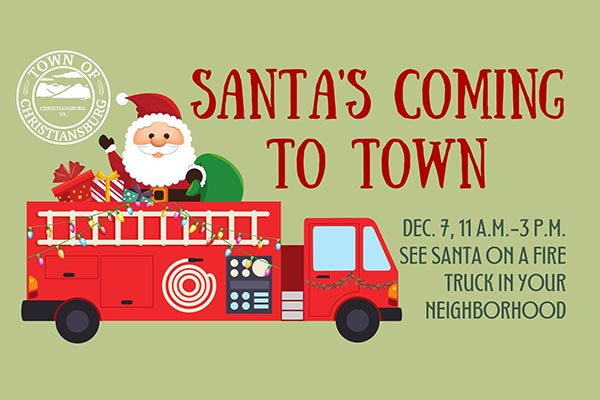 12/7: Santa's Coming to Christiansburg