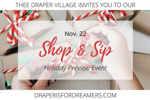 11/22: Shop and Sip in Draper