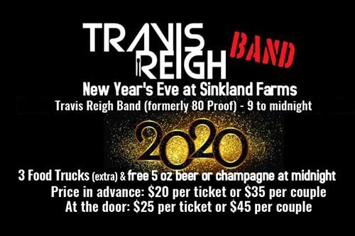 12/31: Sinkland Farms New Year's Eve