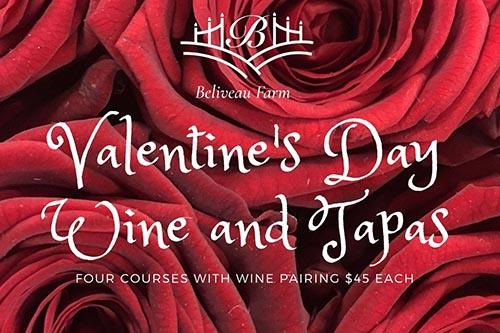 2/14: Valentines Wine & Tapas