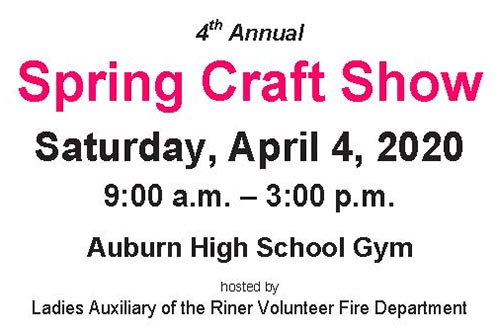 4/4: Craft Show in Riner