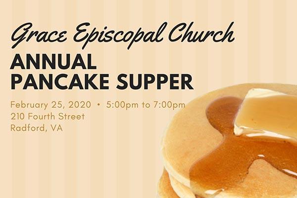 2/25: Pancake Supper at Grace Episcopal