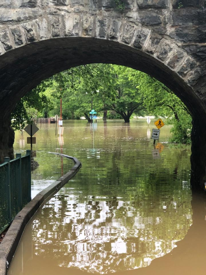 Flooding at Bisset Park Tunnel in Radford, Photo by S.L. Hastings.