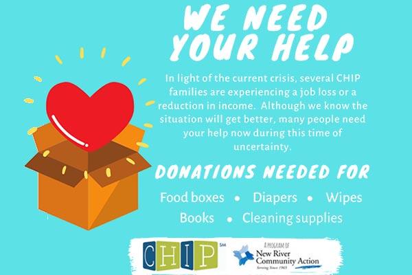 NRV CHIP seeking donations