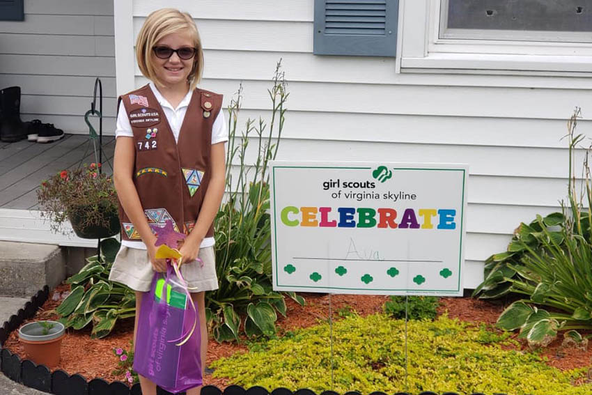 Top Girl Scout Cookie Achievers in the NRV