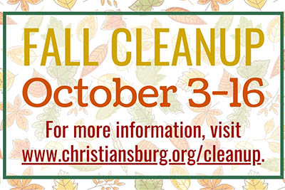 10/3-16: Christiansburg Fall Cleanup