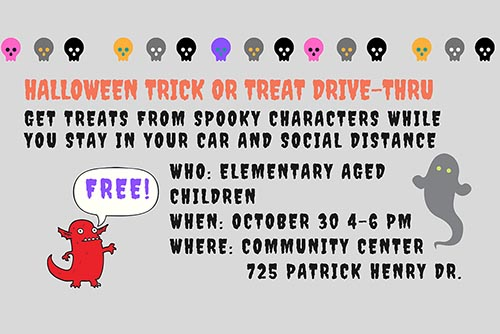 10/30: Halloween Trick or Treat Drive Thru