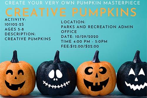 Creative Pumpkins program set for October 29