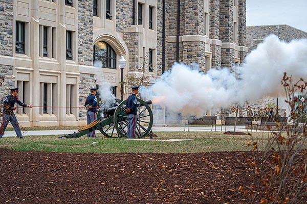 10/10: Freshman Caldwell March and Skipper Cannon firing