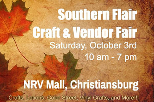 10/3: Southern Flair Vendor Fair