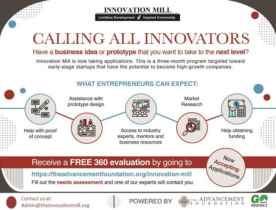 Innovation Mill Accepting New Applications 2
