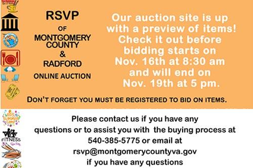 11/16-19: RSVP Online Auction