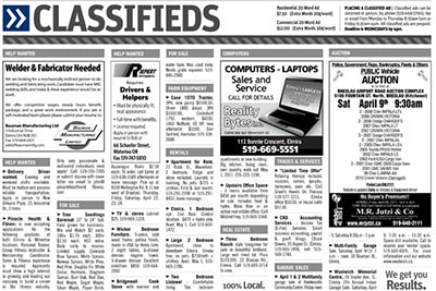 Would you like local classified ads?