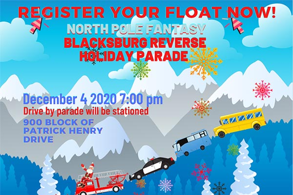 Registration for the Reverse Holiday Parade