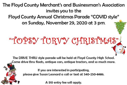 11/29: Floyd County Topsy Turvy Parade 2