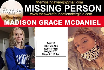 Missing Roanoke County Teen Located Safe