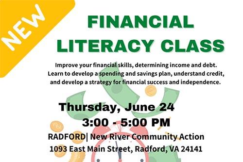 NEW! Financial Literacy Class