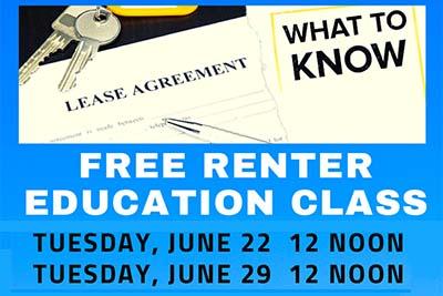 Free Renter Education Workshops