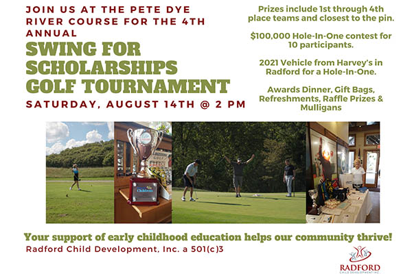 8/14: Swing for Scholarships Golf Tournament