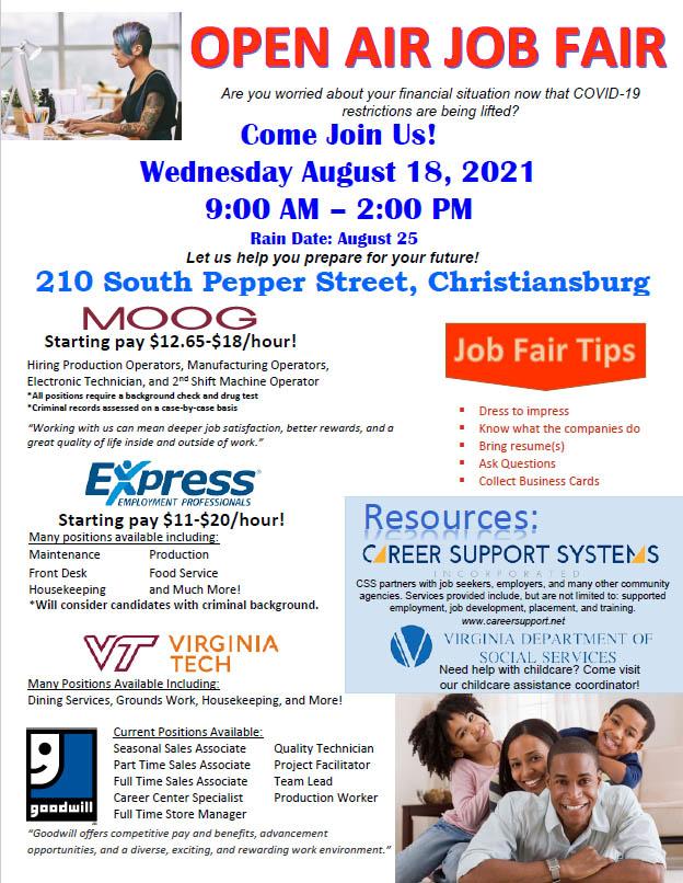 8/18: Job Fair! 2
